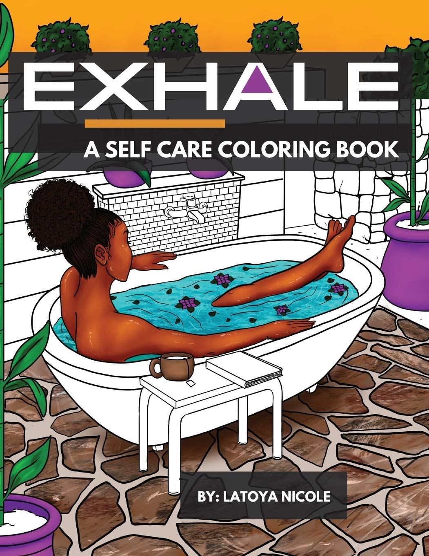 Exhale Self Care Colorging Book