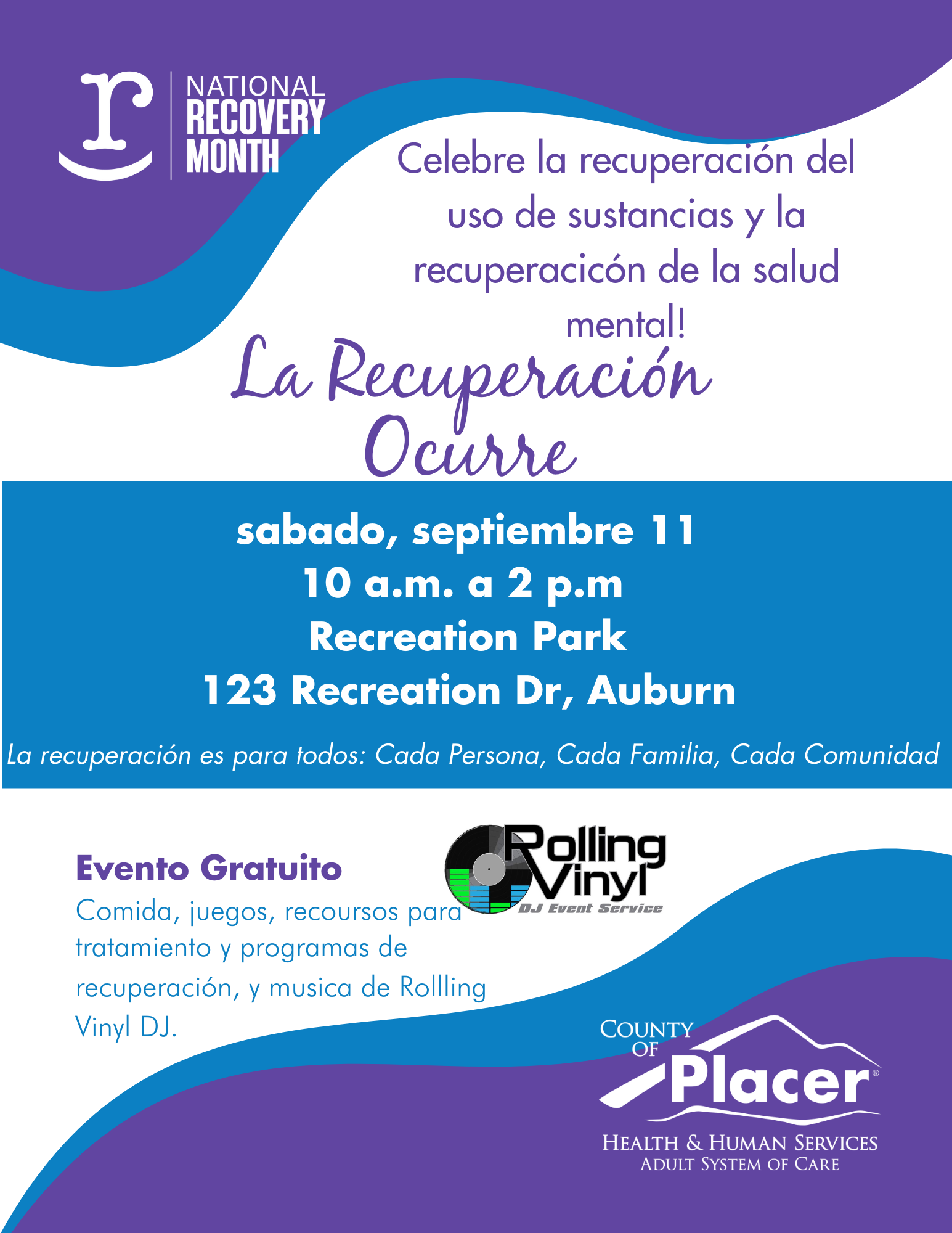 Recovery Happens Event Spanish