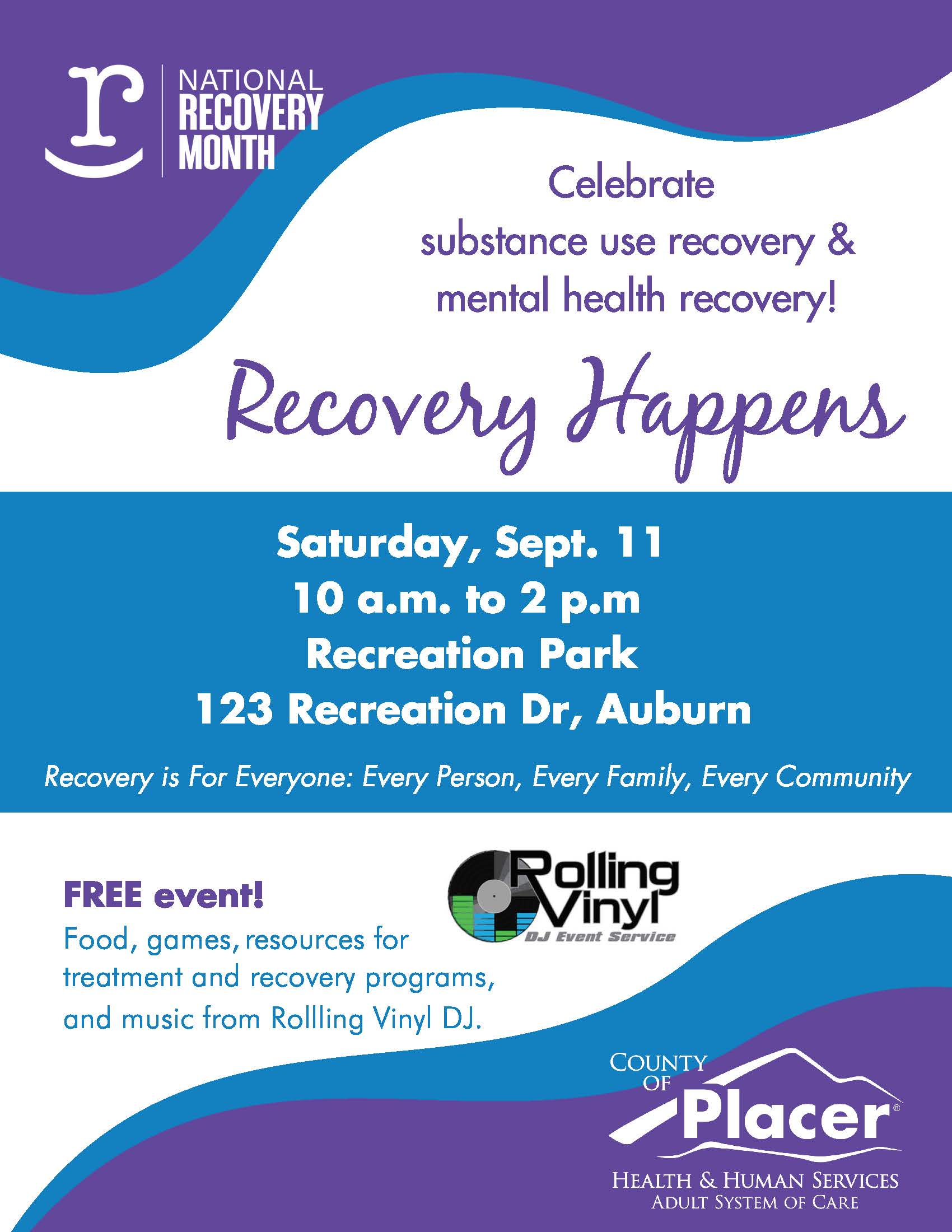 Recovery Happens Event